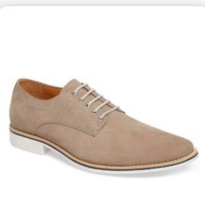 Nordstrom 1901 grey nubuck lace up shoes 12 M